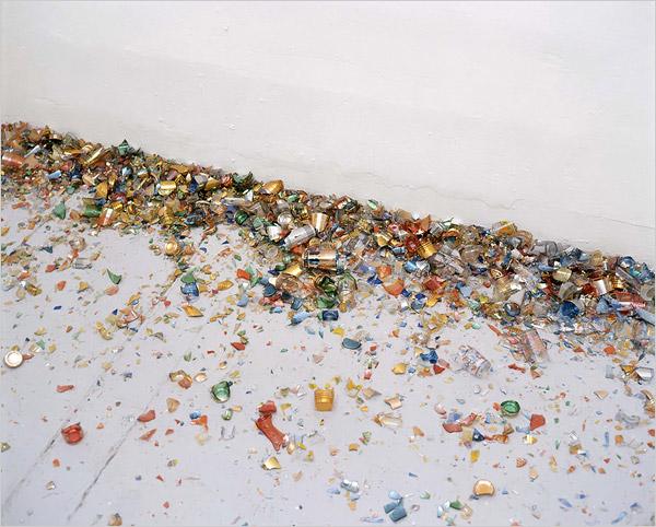 Latifa Echakhch, Erratum, 2004–11. Installation view from EXPO 1: New York at MoMA PS1, 2013. © MoMA PS1; Photo: Matthew Septimus.