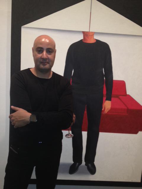 Hicham Benohoud, le soir du vernissage